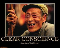 http://www.motifake.com/clear-conscience-clear-conscience-sign-bad-memory-demotivational-posters-146381