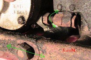 Sarolea 31R Getriebeverstellung