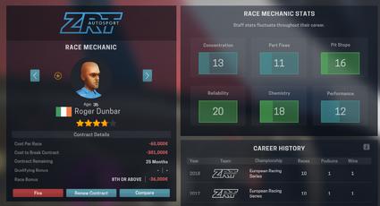 Mechanics stat screen