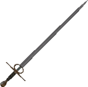 Good Broadsword (With Fire & Blade) itm good palash