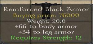 Reinforced Black Armor