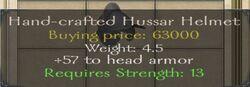 Hand-crafted Hussar Helmet