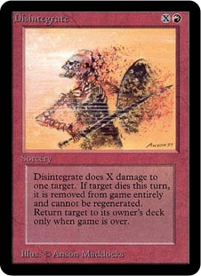 Disintegrate 1E