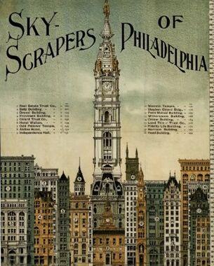 Philadelphia skyscrapers 1898 vintage poster postcard-r32b3d8bd467349a487a114de8559bb48 vgbaq 8byvr 512