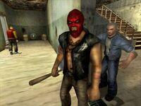 Cash kills a mask