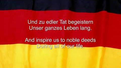 Das Deutschlandlied - Germany National Anthem (English and German lyrics)