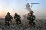 U.S. Marines soldiers havin' a rest
