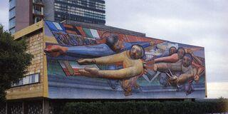 Siqueiros Mural en Ciudad Universitaria
