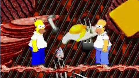 Darkflare fails at Mugen Homer Simpson (Warner Judgespear)