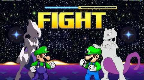 Mugen Luigi and Mewtwo vs Not Luigi and DEFINITELY NOT MEWTWO