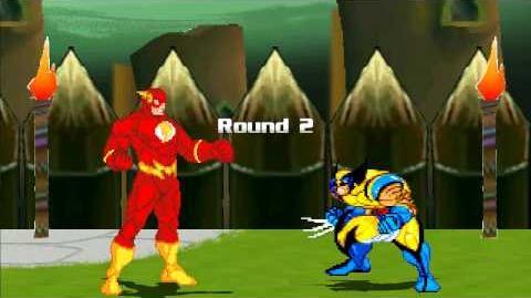 MUGEN Flash (Wally West) vs Wolverine