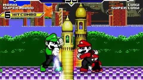 SK MUGEN - NGPC Marios vs NGPC Luigis + Mario Makers vs Luigi Makers