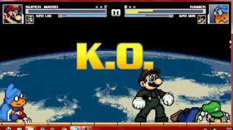 Mugen Mario Bros vs Kamek and Matrix Mario
