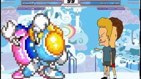 MUGEN battle 10 twinbee & winbee vs beavis & butt-head