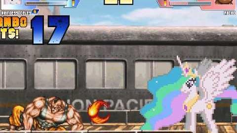 The MegaBrony MUGEN - Princess Celestia vs Abobo