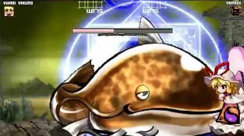 Mugen Touhou Yukari Yakumo (Me) Vs Namazu (Boss Battle)