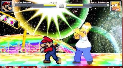 Mugen Mario Vs Homer