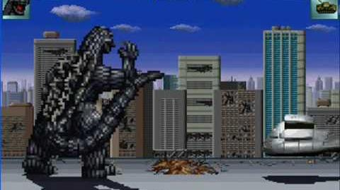 MUGEN Godzilla VS Army Tanks (Bonus game)