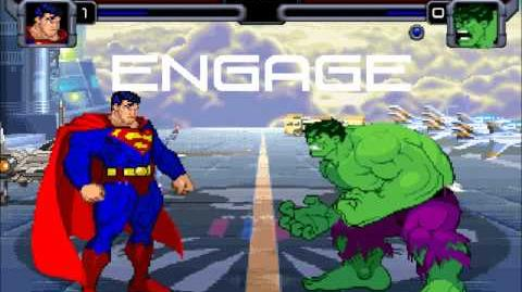 Mighty Mugen Fights Superman Vs Savage Hulk