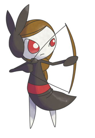 File:Commission meloetta archery forme by cherubimonx-d58gqp6.png