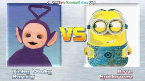 MUGEN Matches Battles Fights Of Barney The Dinosaur And Tinky-Winky The Teletubby Part 2