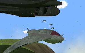 Harvengers flying around