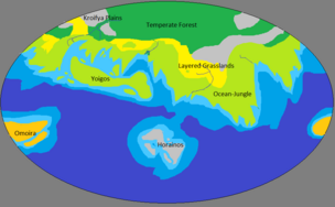 Alakla projection map