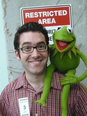 Joe Hennes and Kermit