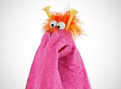 Honker pink fur orange hair