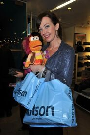 Janey with gobo doll