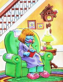 Grover stays up very very late mom