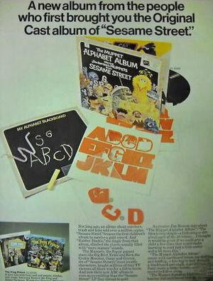 1971 Muppet Alphabet Album ad