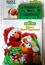 Elmo Saves Christmas (book and tape)