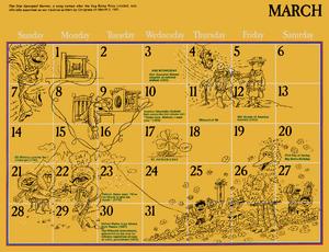 1976 sesame calendar 03 march 2