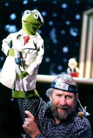 Jim and Reporter Kermit