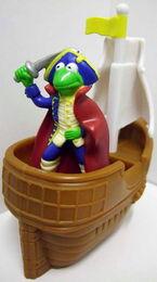 Burger king uk kermit treasure island toy