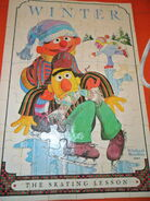 Milton bradley 1980 sesame winter puzzle
