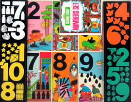 Colorforms 1973 sesame street numbers set 2