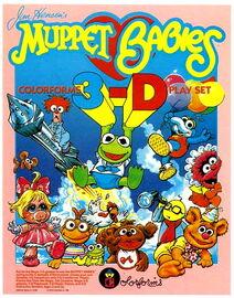 Colorforms 1986 muppet babies 3d play set