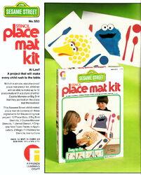 Friends industries 1976 catalog stencil place mat kit