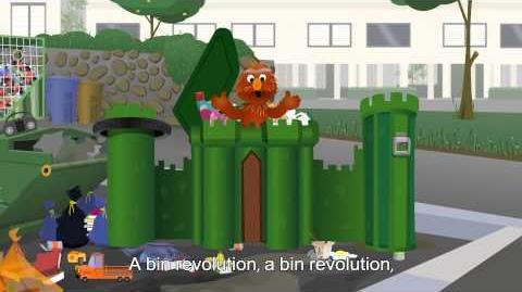 Shalom Sesame Rechov Sumsum's Revolution Trash Bin