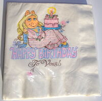 Hallmark 1981 piggy napkins birthday