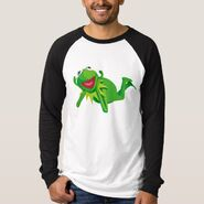 Zazzle 2 kermit lying shirt