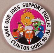 Clinton 96 button
