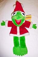 Dakin 1988 kermit santa christmas puppet