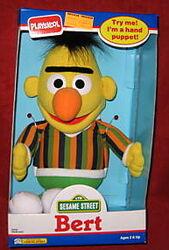 Playskool 1990 bert hand puppet