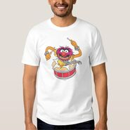 Zazzle animal crashing through drums shirt