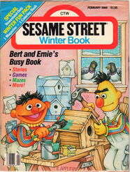 Sesame street magazine feb 1988 winter book