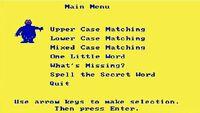 Sesame Street Letter-Go-Round game menu (DOS)
