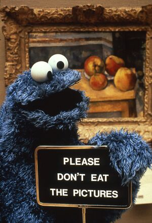 Cookie Monster Don't Eat the Pictures photo